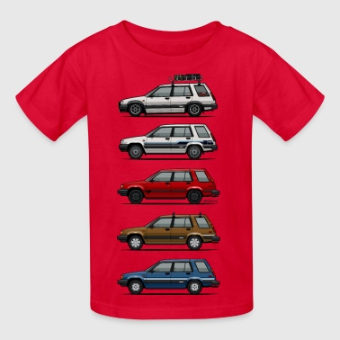 Stack of Toyota Tercel SR5 4WD Wagons - Kids' T-Shirt