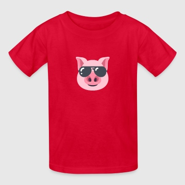 Pig with Sunglasses - Kids' T-Shirt