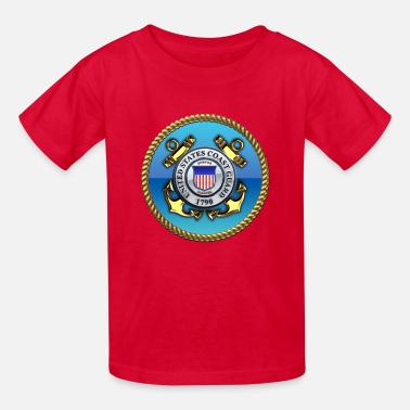 Used Emblem US Coast Guard (USCG) Emblem - Kids' T-Shirt