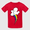 rainbow lightning bolt - Kids' T-Shirt