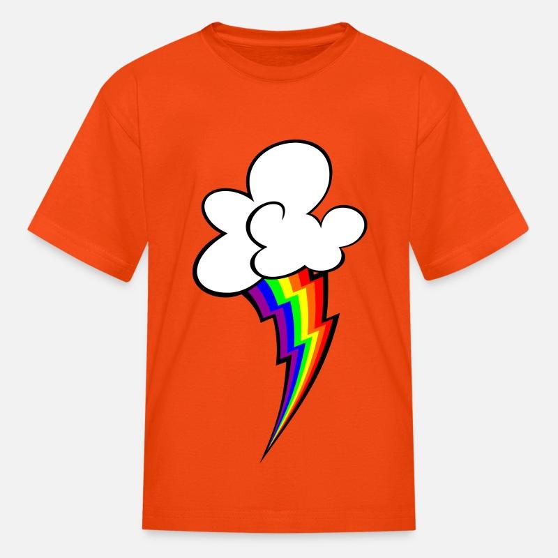 ce342b8fd9 rainbow lightning bolt Kids' T-Shirt   Spreadshirt