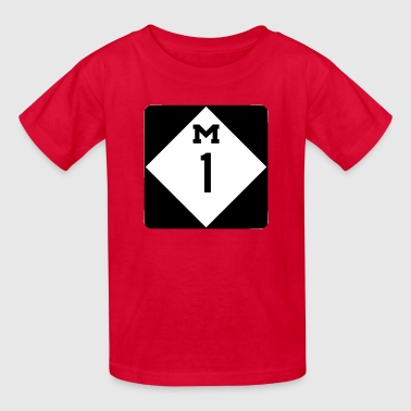 M 1 Woodward Ave - Kids' T-Shirt