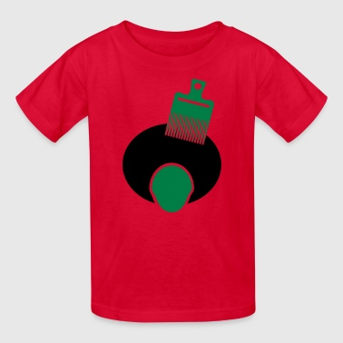 Afro, Pick, And Face--3 Color - Kids' T-Shirt