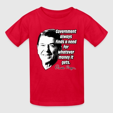 Reagan Quote Government and Money - Kids' T-Shirt