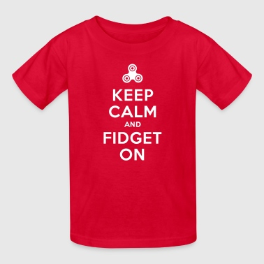 Fidget Spinner Keep calm and fidget on - Fidget Spinner - Kids' T-Shirt