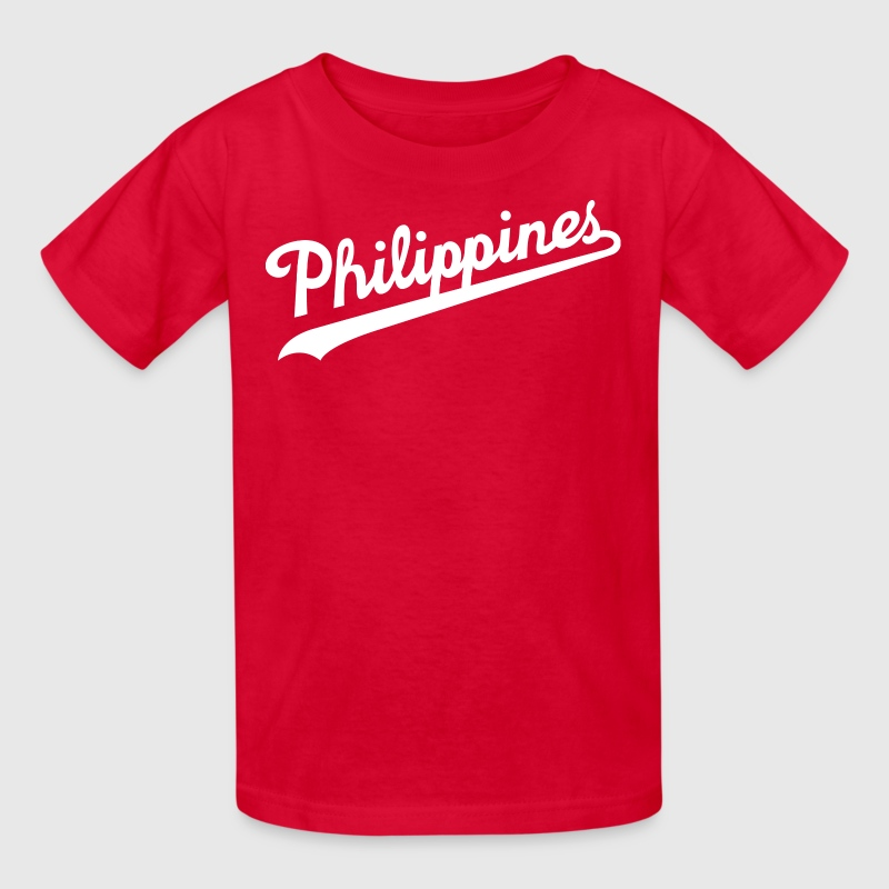 Philippines Script Design by AiReal Apparel - Kids' T-Shirt
