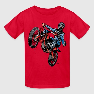 Motocross Dirt Bike Stunt Rider - Kids' T-Shirt