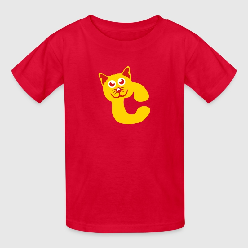 c cat animal letter - Kids' T-Shirt