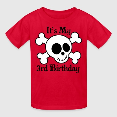 3rd Birthday Boys Pirate Skull - Kids' T-Shirt