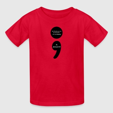 Christian Sayings Semicolon:  LIVE...that is the Secret to LIFE! - Kids' T-Shirt