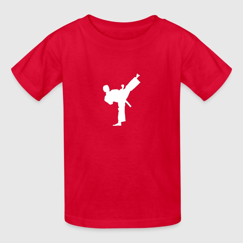 Kick! - Karate, Martial Arts, Kick, Self Defense - Kids' T-Shirt