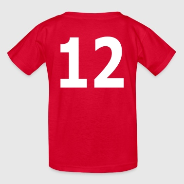 Team letter twelve 12 - Kids' T-Shirt