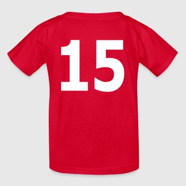 Team letter fifteen 15 - Kids' T-Shirt