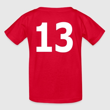 Team letter thirteen 13 - Kids' T-Shirt