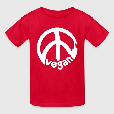 VEGAN PEACE vector - Kids' T-Shirt