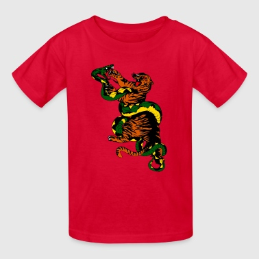tiger snake fight - Kids' T-Shirt