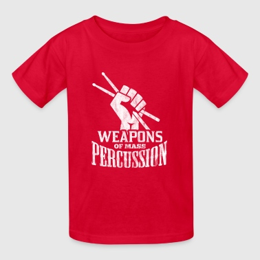 weapons of mass percussion - gift for drummer - Kids' T-Shirt