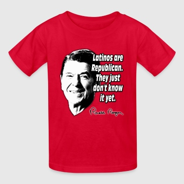Reagan Quote Latinos Are Republican - Kids' T-Shirt