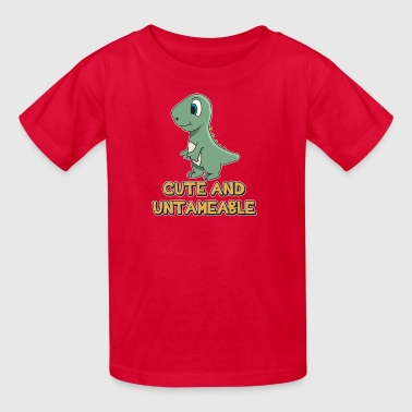 Shark Quote  Cute And Untameable Dinosaur - Kids' T-Shirt