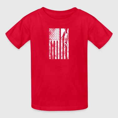 Rock Climbing Flag Shirt - Kids' T-Shirt