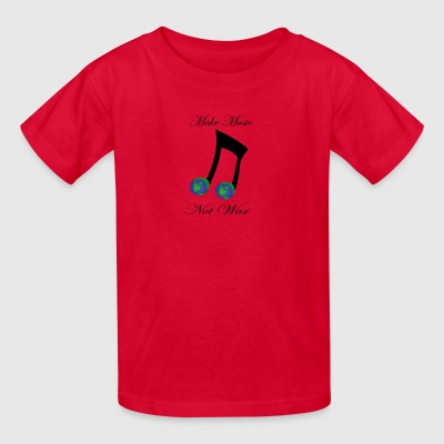 Make Music Not War With MusicNote and Earth Shirt - Kids' T-Shirt