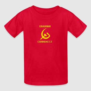 Grammar communist - transparent - Kids' T-Shirt