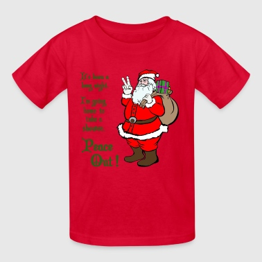 Peace Out Santa - Kids' T-Shirt