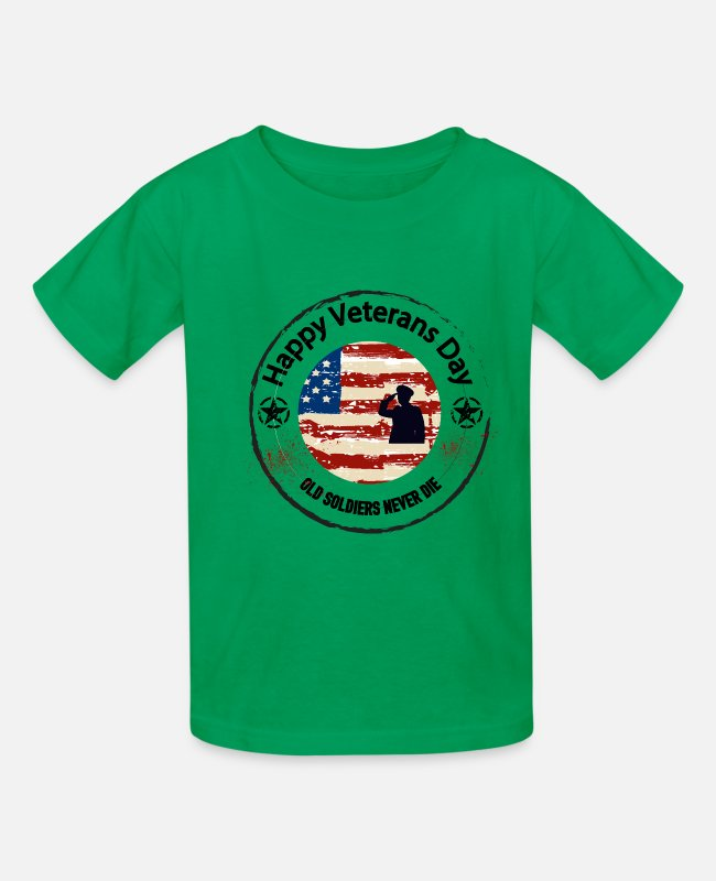 Afghanistan T-Shirts - Veteran veterans day korean war veteran veterans - Kids' T-Shirt kelly green