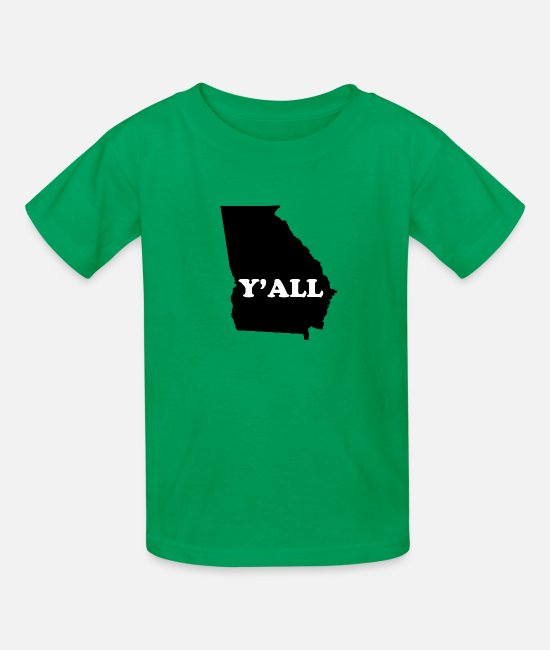 Yall T-Shirts - Georgia Yall - Kids' T-Shirt kelly green