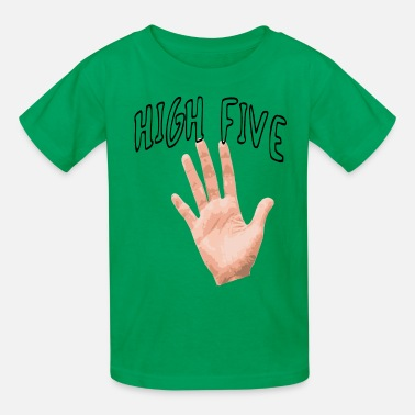 High five | Cool slogan, funny, fun - Kids' T-Shirt