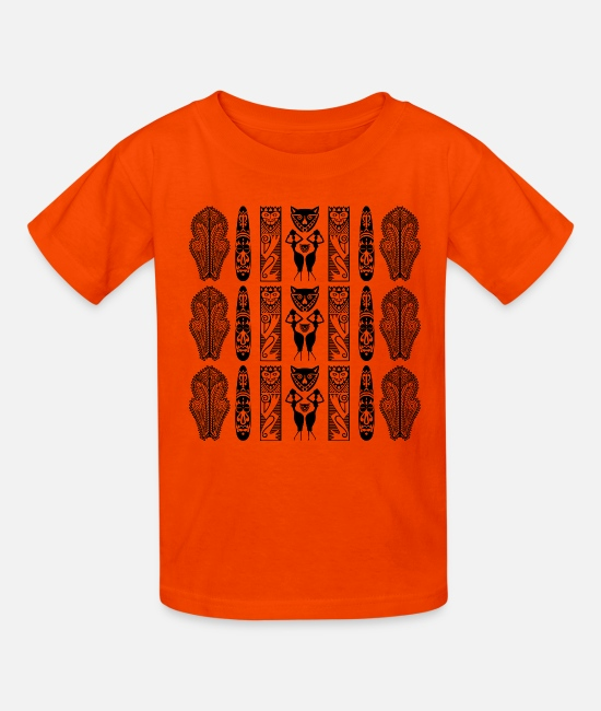 Art T-Shirts - African Art - Decorative - Kids' T-Shirt orange