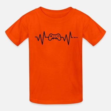 Ctf Heartbeat - Gaming, gamer, ps3 controller, gamepad - Kids' T-Shirt