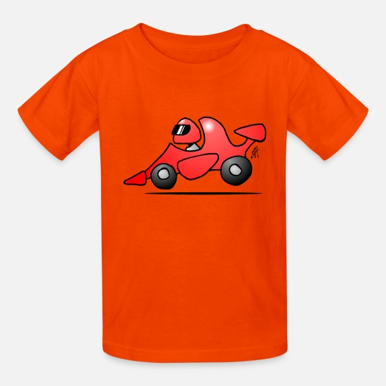 Race Car T-Shirts - Race car - Kids' T-Shirt orange