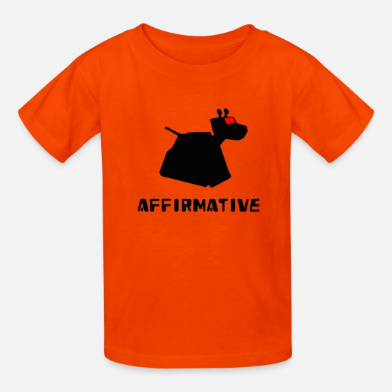 Who T-Shirts - Affirmative - Kids' T-Shirt orange