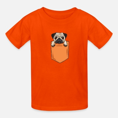 pug pocket - Kids' T-Shirt