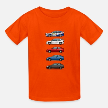Tuning Stack of Ford Escort MkVs Coupes - Kids' T-Shirt