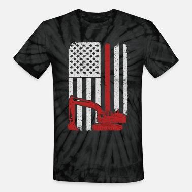 b565594c Heavy Equipment Operator Excavator - America USA F Men's T-Shirt ...