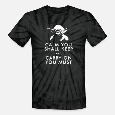 5bb1264c0f Funny Star Wars Yoda Keep Calm Edition Men's T-Shirt | Spreadshirt