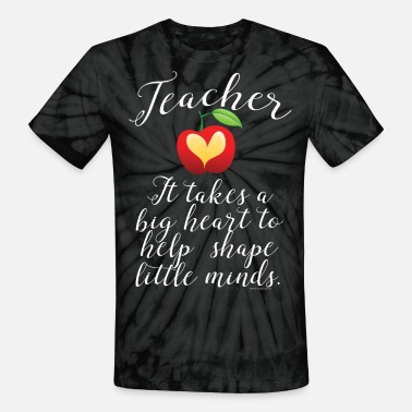 Big Heart Big Heart Teacher - Unisex Tie Dye T-Shirt