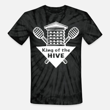 Hive Honey Bees King Of The HIVE Bee Beekeepers Gift - Unisex Tie Dye T-Shirt