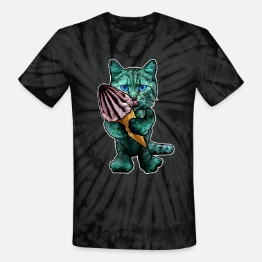 Nibble guzzler nibble cat - Unisex Tie Dye T-Shirt