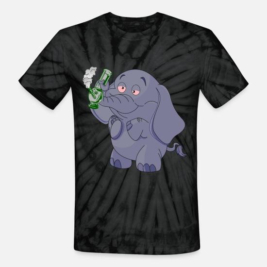 ALWAYSUV Mens Design with Tie Dye Style Elephant Weekend Tie Dye Style Elephant Short Sleeve T-Shirt