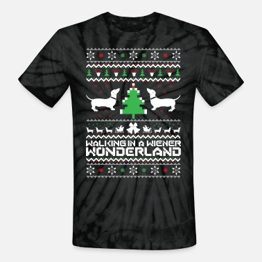 christmas puppies - Unisex Tie Dye T-Shirt