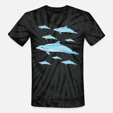 Dolphin Dolphins - Unisex Tie Dye T-Shirt