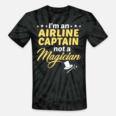 Airline Airline Captain - Unisex Tie Dye T-Shirt