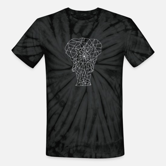Cape Town T-Shirts - Elephant Africa Safari Serengeti Wilderness - Unisex Tie Dye T-Shirt spider black