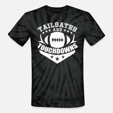 Tailgate Tailgates And Touchdowns | Vintage Football - Unisex Tie Dye T-Shirt