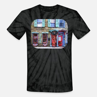 Romanesque Jim Thorpe PA - Fancy Doors and Windows - Unisex Tie Dye T-Shirt