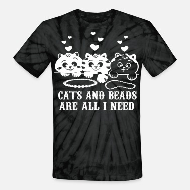 Beads CATS AND BEADS - Unisex Tie Dye T-Shirt