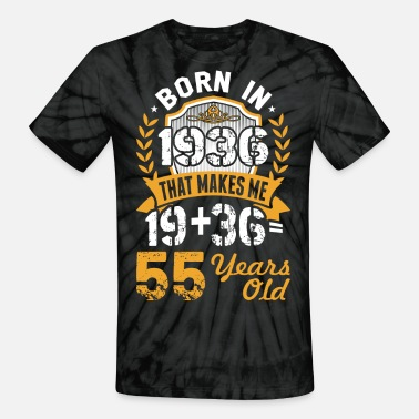 1936 Born in 1936 Tshirt - Unisex Tie Dye T-Shirt